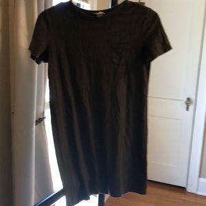 Dark green t-shirt dress